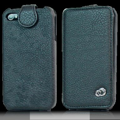 Kroo Black Coutour Case for iPhone 4