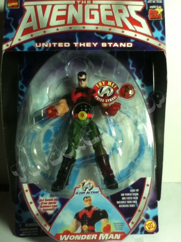 Avengers Marvel Wonder Man w Lighted Fists,Visor & Ring Toy