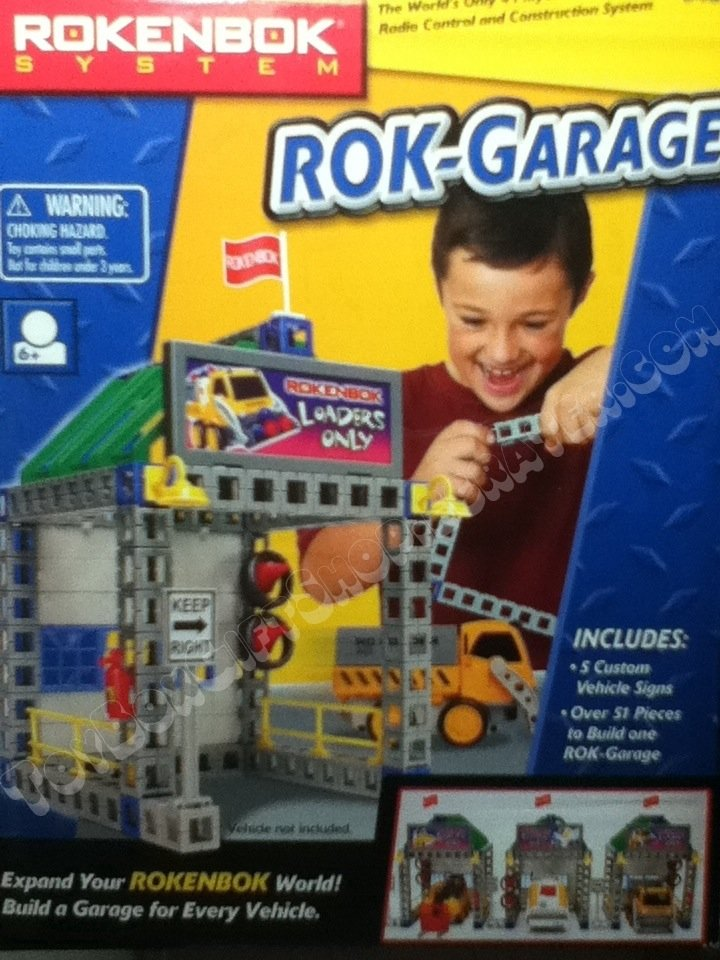 Expand your ROK World! Rokenbok Garage 50+ pieces! Place to Park your ROK vehicle ROK 04318 4318