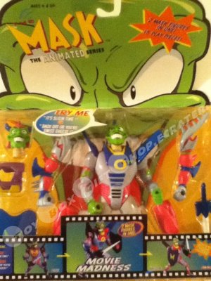 The MASK Animated Series 2in1 Sushi and Yakisoba Movie Madness Talking Action Figure 1997 Rare