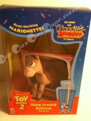 Disney Toy Story 2 Bullseye Woody's Roundup TV Show Hang Around A real working Marionette