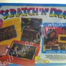 Creative Fun Scratch N Draw Set with Workstation NSI Colorful Artistic Imaginative