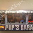 Set of 4 Hot Wheels 2001 Pop&#39;s Garage Boxed  Detailed Rare 1/64 DieCast Official Licensed