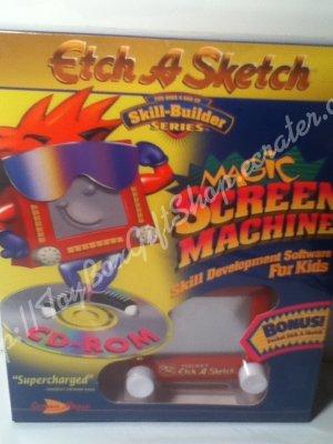 Magic Screen Machine Etch-a-Sketch CD-ROM & Bonus Pocket Etch-a-Sketch Software Skill Builder