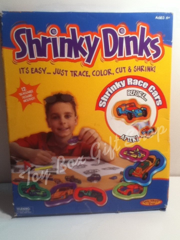 Shrinky Dinks Race Cars Easy, Trace, Color, Cut, & Shrink! by Spin Master Toys