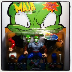 The MASK Animated Series 2in1 Wolf Mask and Count Maskula Movie Madness Talking Action Figure 1997