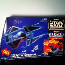 Star Wars 1997 Imperial Flight Controller w Tie Interceptor Firing Laser Cannons Toy Great Gift!