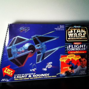 Star Wars Imperial Flight Controller w Tie Interceptor Firing Laser Cannons