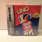 GBA 2 for 1 Uno and Skip-Bo!  Game Boy Advance 2 Game Pk Rated E Everyone Family Games Great Gift
