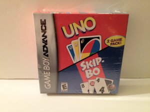 Uno and Skip-Bo! GBA 2 for 1  Game Boy Advance 2 Game Pk Rated E Everyone Family Games Great Gift
