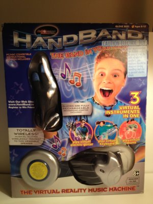 3 in1 Band Virtual Instruments Drums Electric Guitar Keyboard HandBand in Your Hand  Hand Band