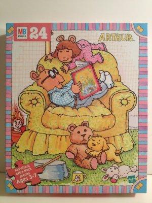 Arthur Reading to D.W. with Pal & Stuffed Friends PBS Arthur Puzzle Marc Brown Milton Bradley