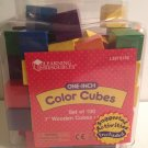 "Color Cubes Quality Hardwood Six (6) Colors Plus Storage Set of 100 One-Inch 1"" Learning Resources"