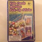 Family Fun Games: Kids Cards, 100 colorful Marbles, Pick-Up Sticks includes Storage Tin by Cardinal