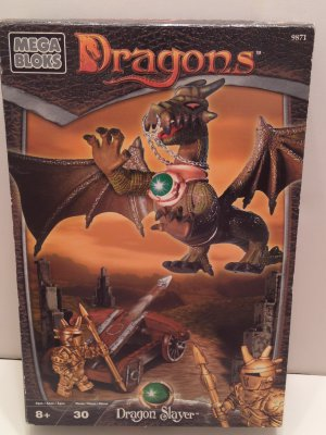 Dragons Mega Bloks 9871 - Dragon Slayer 30 Pcs Build the Legend! Warrior versus Dragon & Stone