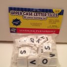 88 Pcs Learning Playground Uppercase Letter TilesLearning Set A-Z Resealable Storage Bag ages 3 &up