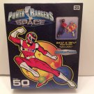 1998 Saban's Power Rangers In Space Kid SizeRed Ranger Floor Puzzle over 50 pieces RoseArt Rare