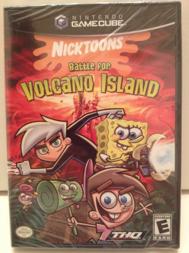 Nicktoons Battle for Volcano Island GameCube Join Nicktoon Favorites Nintendo ESRB Rated E Everyone