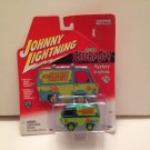 Johnny Lightning Scooby-Doo! Mystery Machine Van Hollywood On Wheels Chrome Green Die-cast 2001 rare