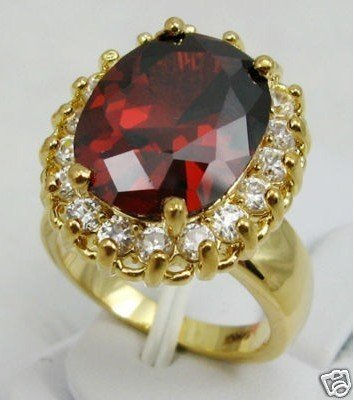 Beautiful Red CZ crystal Woman's Ring size 7-9