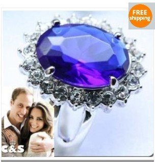 The Royal Engagement Kate & William Ring with gift box size 7-10