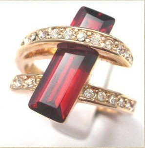 natural lady's ruby ring 7-9# free shipping