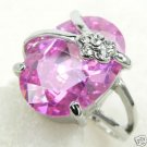 new crystal quartz gem ring size 7-9  free shipping