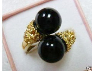 Exquisite black jade Lady's ring 7#8#9# free shipping