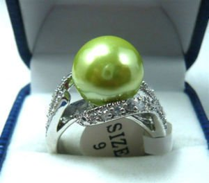 shell pearl Jewelry lady's ring 6-10# free shipping