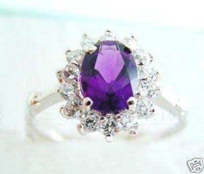 ELEGANT AMETHYST Purple RING SIZE 7 8 9 10 free shipping