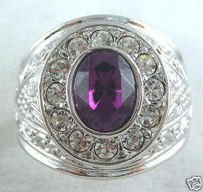 Charming purple jade crystal ring 7#8#9# 10# free shipping
