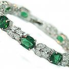 Exquisite jewelry green crystal bracelet free shipping