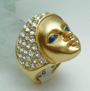 stunning 18k GP Egypt Queen Ring 7 8 9  free shipping