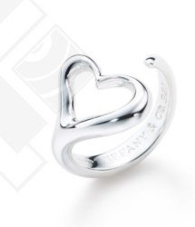 Fashion Jewelry open heart ring free shipping