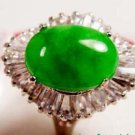 Beautiful Jade Green Cabochon Ring 7.8.9 free shipping