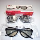 New LG AG- F310 3D (2 Pair) Glasses for LG Cinema 3D