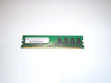 Micron 1GB PC2-6400 800MHz CL6 240-Pin DDR2 MT8HTF12864AY-800E1 Desktop RAM Memory
