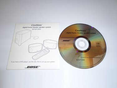 BOSE Cinemate Digital Home Theater Speaker System Setup DVD