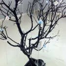 """30"""" Black / Painted Jewelry Tree with flowers"""