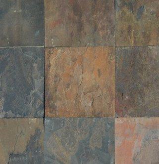 Slate Tile 16x16 Rustic Gold Polished