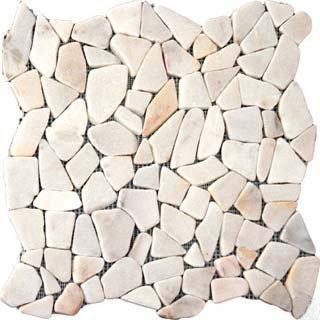 Pebbles 16x16 FLAT - WHITE MARBLE