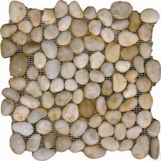 Pebbles 12x12 POLISHED WHITE MARBLE
