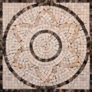 Medallion 12x12 MM12T-Emperador Dark and Emperador Light