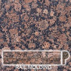 Granite Edge Piece 1x2x12 BALTIC BROWN RAIL MOLDING