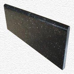 Granite Edge Piece 12x4x3/8 BLACK GALAXY BULLNOSE