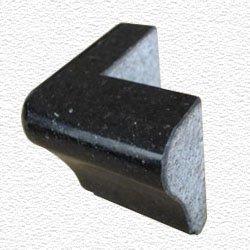 Granite Edge Piece 3x2x1.34 BLACK GALAXY MARTEL OUT CORNER