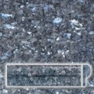 Granite Edge Piece 1x2x12 BLUE PEARL RAIL MOLDING