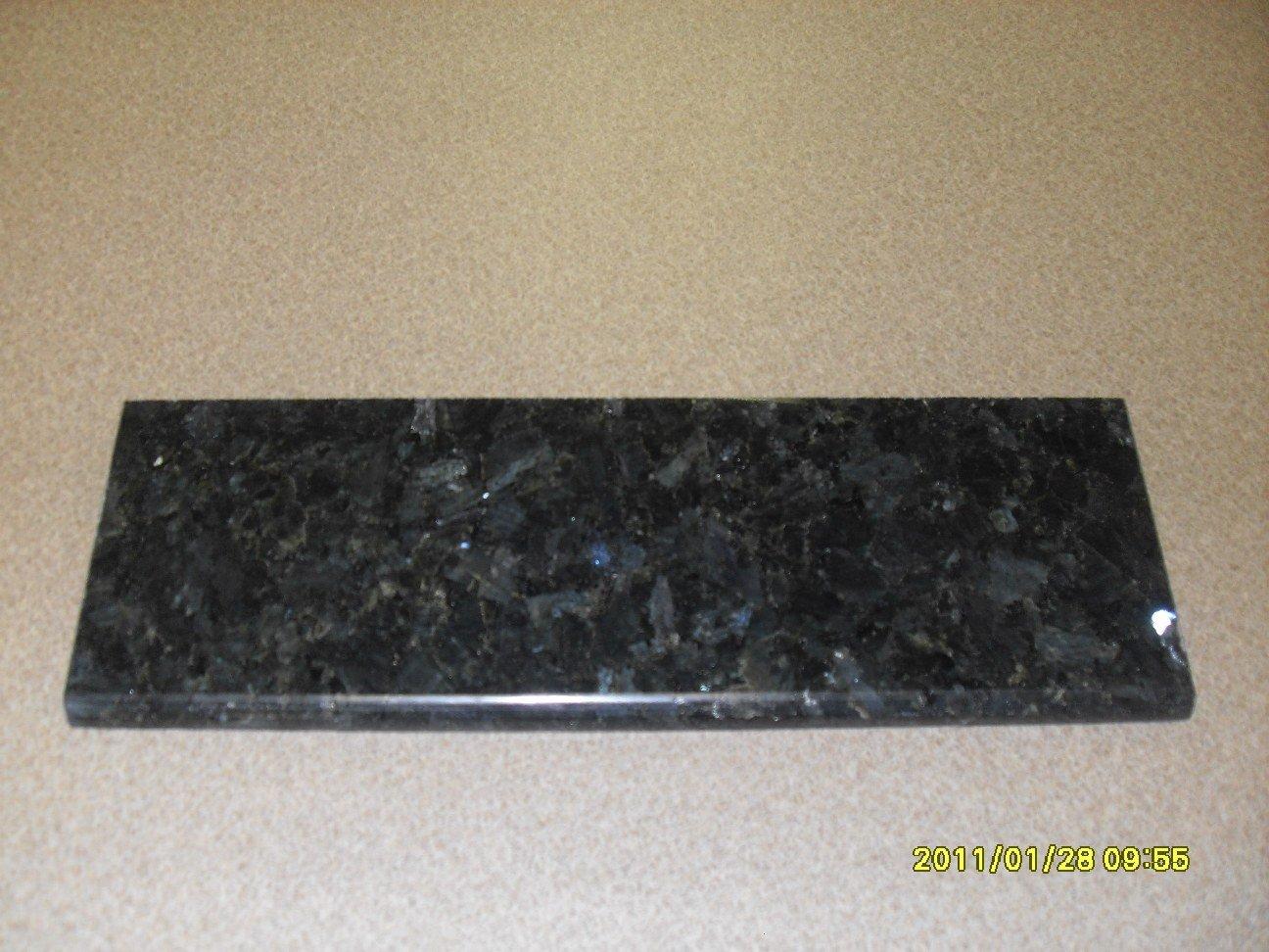Granite Edge Piece 12x2x3/8 EMERALD PEARL BULLNOSE