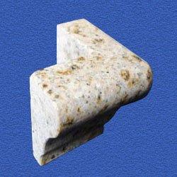 Granite Edge Piece 3x2x1.34 GIALLO FANTASIA MARTEL OUT CORNER