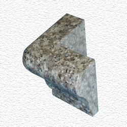 Granite Edge Piece 3x2x1.34 JAVA BROWN MARTEL OUT CORNER